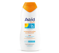 ASTRID SUN ASTRID SUN Hydratačné mlieko na opaľovanie OF 15